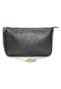 Bolsa Shoulder Bag Couro - Preto