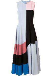 Roksanda Vestido Reto Color Block - Azul