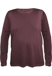 Camiseta Gajang Sem Costura Gigante Bordô