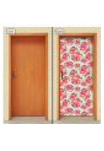 Adesivo Decorativo De Porta - Flores - 1796Cnpt