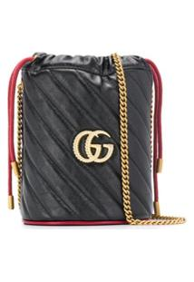 Gucci Gg Marmont Mini Bucket Bag - Preto