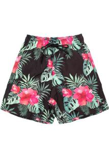 Shorts Summer Flower Aleatory Masculino - Masculino