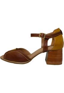 Sandália Comitiva Boots Multi Couro Marrom