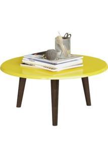 Mesa De Centro Brilhante (Amarelo) - Móveis Bechara