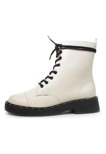Bota De Cano Curto Damannu Shoes Noelle Off White