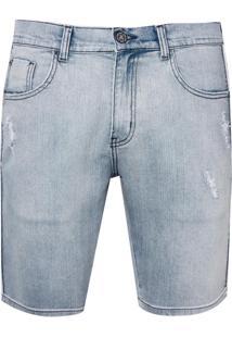 Bermuda John John Clássica Texas Jeans Azul Masculina (Jeans Claro, 40)