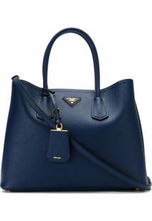 Prada Bolsa Double Bag - Azul