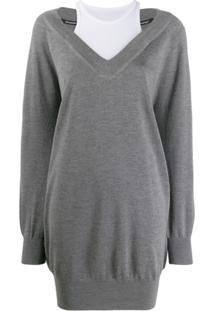 Alexander Wang Long Sleeved Sweater - Cinza