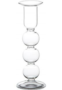 Castiçal Em Vidro Transparente Henan Balls 20Cm