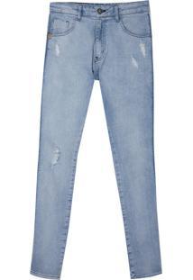 Calça John John Skinny Bulgaria Jeans Azul Masulina (Jeans Claro, 50)