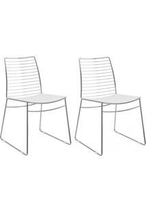 Kit 2 Pçs Cadeira 1712 Cromada - Carraro