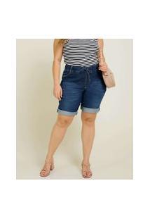 Bermuda Plus Size Feminina Jeans Cintura Alta