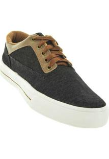 Tenis Casual Jeans Preto Masculino Happy Star 55747013