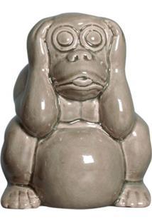 Estátua Decorativa Macaco Não Ouço Fendi