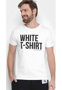 Camiseta Calvin Klein Colors Masculina - Masculino-Branco