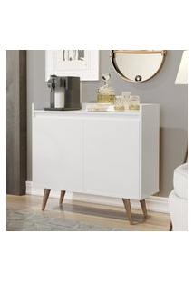 Aparador Buffet Com 2 Portas Retrô Clean - Branco - Rpm Móveis