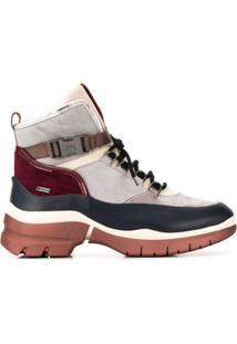 Hogl Ankle Boot Com Plataforma E Amarração - Azul
