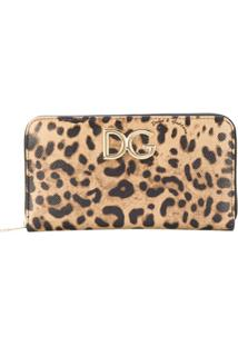 Dolce & Gabbana Carteira Animal Print - Neutro