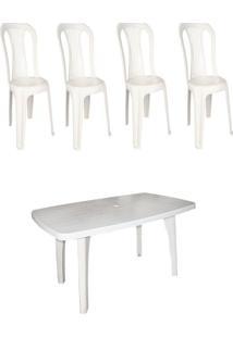 10 Conjuntos De Mesa Retangular C/ 6 Cadeiras Bistrô Antares