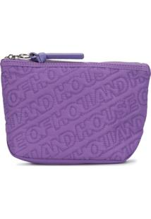 House Of Holland Nécessaire Com Bordado De Logo - Roxo