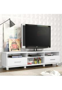 Rack Para Tv De Até 65 Polegadas Multimóveis Berlin Com 2 Gavetas Branco