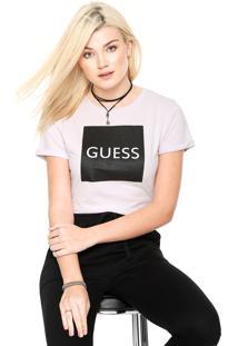 Camiseta Guess Quadrado Roxa
