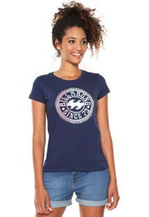Camiseta Billabong Girls Mandala Azul-Marinho