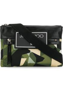 Jimmy Choo Bolsa Carteiro Kimi Camuflada - Verde