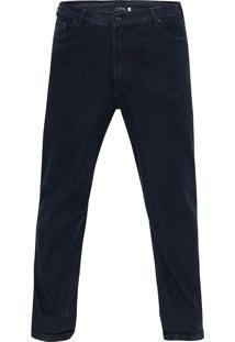Calça Jeans Tamanho Especial Marinho