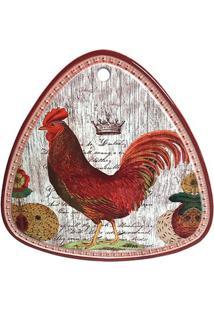 Descanso De Panela Galo Cerâmica 20Cm - 30159