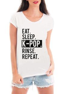 Blusa Criativa Urbana Kpop Repeat Blusa T Shirt Music - Feminino