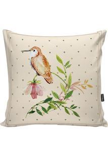 Capa De Almofada Birds- Bege Claro & Verde Claro- 45Stm Home