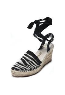 Sandália Santa Lolla Zebra Preto/Branco