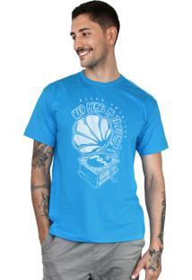 Camiseta Bleed American Turntable Turquesa.