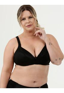 Sutiã Feminino Com Base Recorte Renda Plus Size Dilady