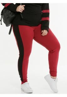 Calça Plus Size Feminina Jogger Recorte