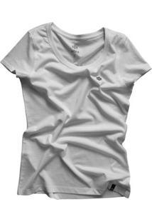 Camiseta Zebra Pine Casual Cone Feminina - Feminino-Branco