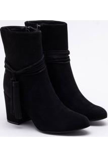 Ankle Boot Nobuck Preta