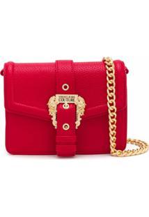 Versace Jeans Couture Bolsa Tiracolo Com Fivela E Logo Gravado - Vermelho
