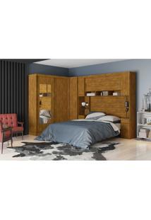Dormitório De Casal Elizabeth Robel C/ Espelhos Marrom Robel Móveis