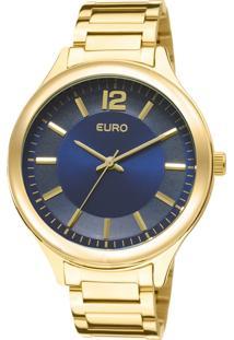 Relógio Euro Feminino Caen Eu2035Lqy/4A - Dourado