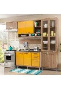 Cozinha Compacta 5 Peças 5816-S9 - Sicília - Multimóveis - Argila / Amarelo
