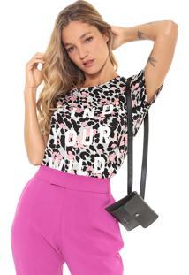 Camiseta Lez A Lez Bonellia Cinza/Rosa