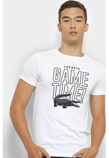Camiseta Lacoste - Masculino-Branco