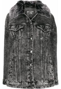 Michael Michael Kors Jaqueta Jeans Desbotada - Cinza