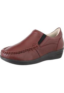 Sapato Feminino Anatomico Linha Conforto Franca Brasil 8005 Vinho