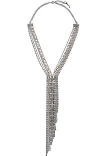 Fabiana Filippi Multi-Strand Crystal Necklace - Prateado