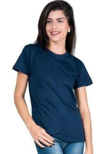 Camiseta Part.B T-Shirt Algodão Tee Feminina - Unissex-Marinho