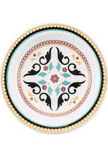 Conjunto De Pratos Fundos 06 Peças Em Cerâmica Floreal Luiza - Oxford Daily