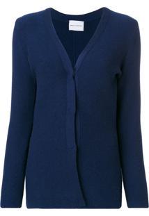 Ursula Conzen Cardigan Decote V - Azul